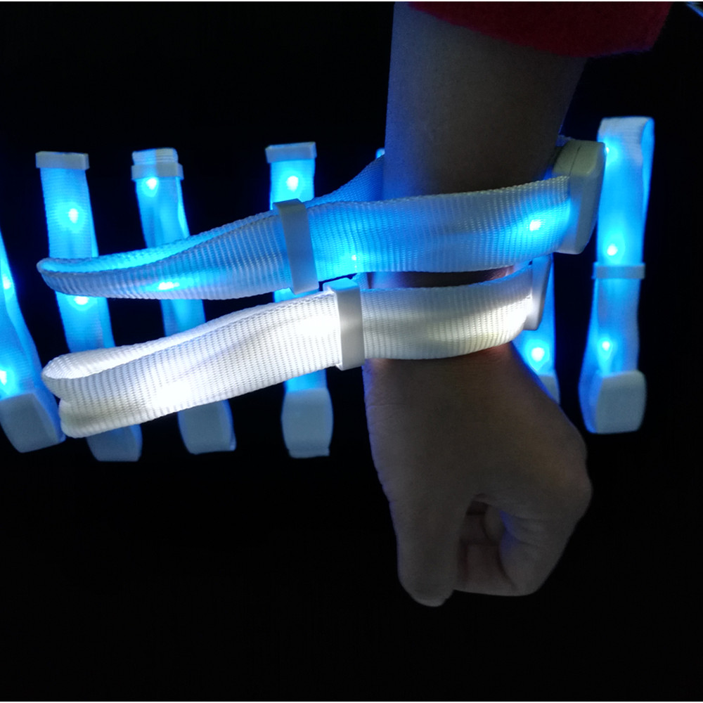 Remote Controlled LED Nylon Long Range RFID Bracelet With Light