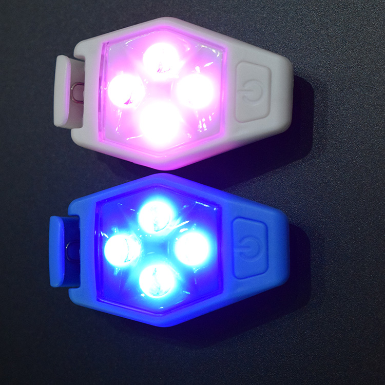 Promotional Safety Warning Mini Clip Led Light, Running Clip Light, Clip On Cloth Light